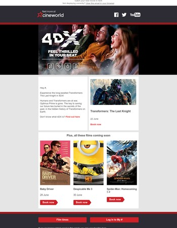 The next films to experience in 4DX