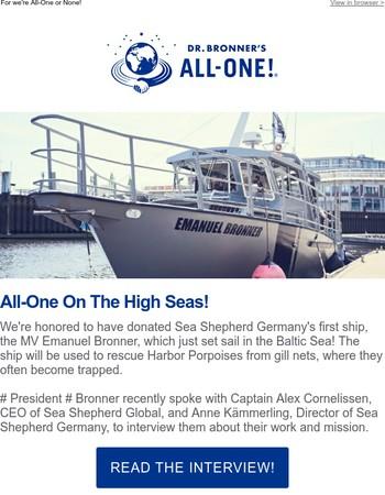 'Emanuel Bronner' Ship Sets Sail for Sea Shepherd!