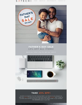 Satechi's 15% Off Father's Day Sale!
