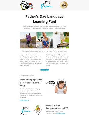 Father's Day Language Learning Fun!