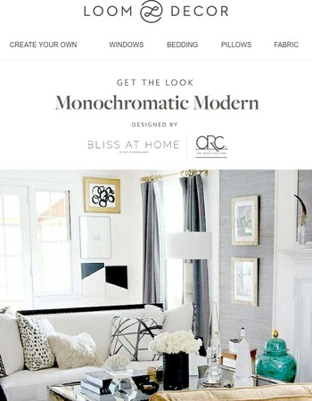 What's Black & White & Hot All Over? Bliss at Home's Living Room