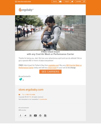 Free for Fathers | Happy Father's Day from Ergobaby