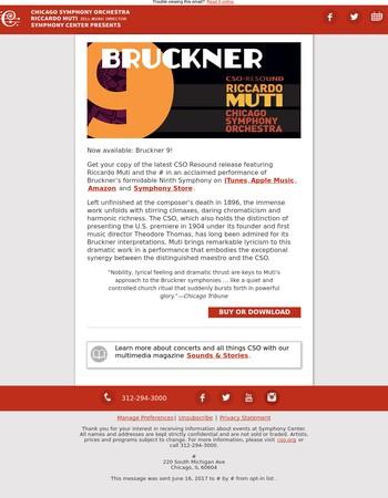 Just released: Muti conducts Bruckner 9