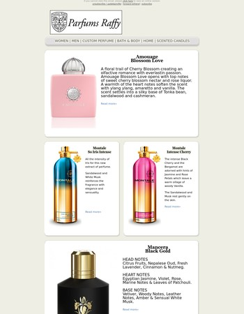 Parfums Raffy - New Summer Fragrances - Amouage - Montale - Mancera