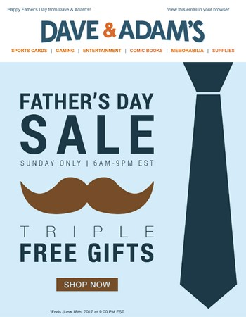 Triple Free Gifts For Father's Day!