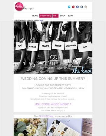 The PERFECT wedding gift! from $99 this weekend!