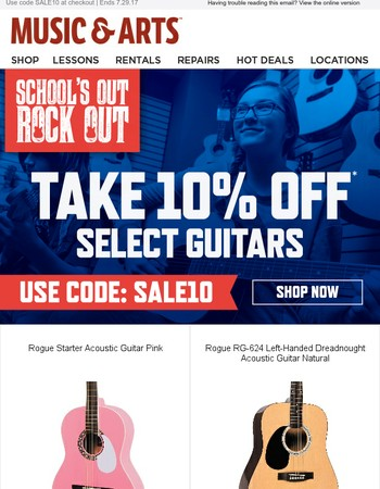 10% off select
