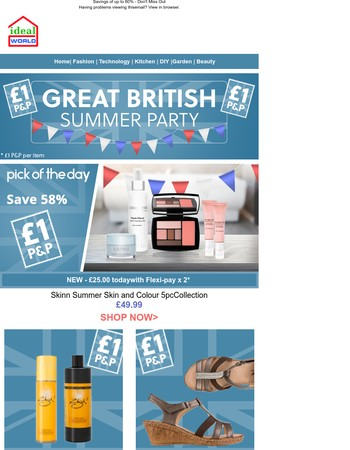 EVERYTHING £1 P&P! Join us for our Great British Summer Party!