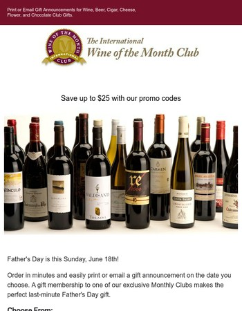 The International Wine of the Month Club Newsletter