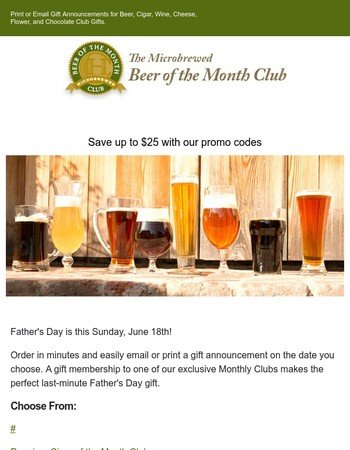 The Microbrewed Beer of the Month Club Newsletter