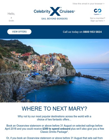 Where in the world will you visit next, Mary?