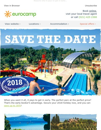 2018 holidays now on sale - save up to 30%