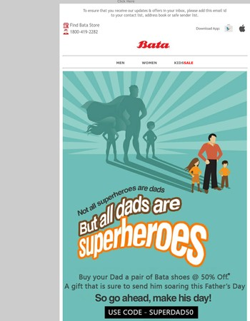 This Father's Day, Buy Your Dad A Pair Of Bata Shoes at Flat 50% Off