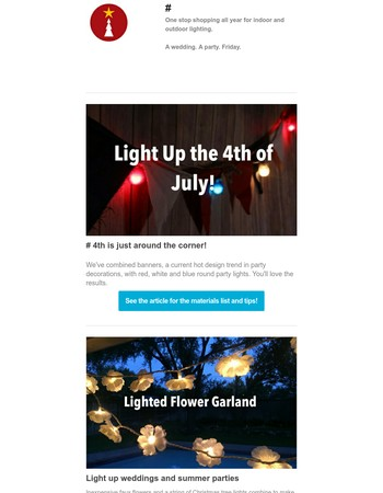 Light Up 4th of July and Summer Parties