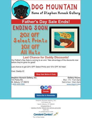 Last Chance: Father's Day Sale!