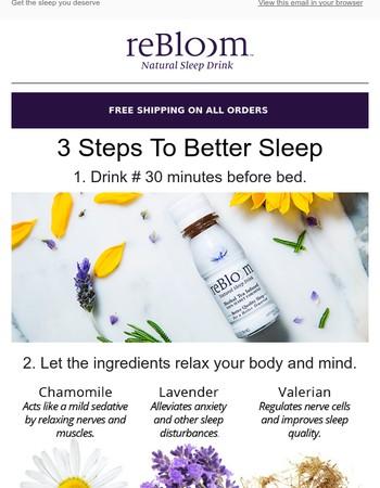 3 steps to better sleep