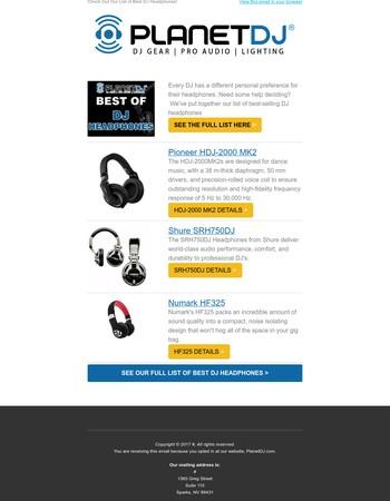 The Best DJ Headphones!