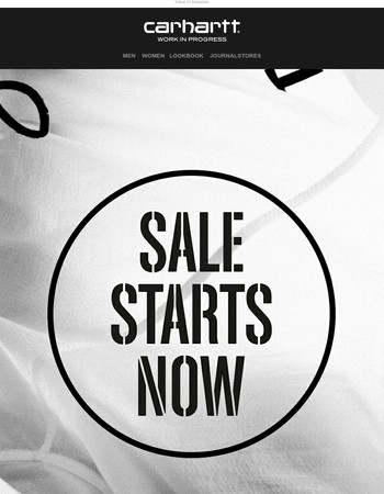 Sale starts now