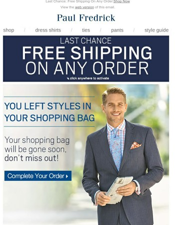 LAST CHANCE - Free Shipping On Your Order