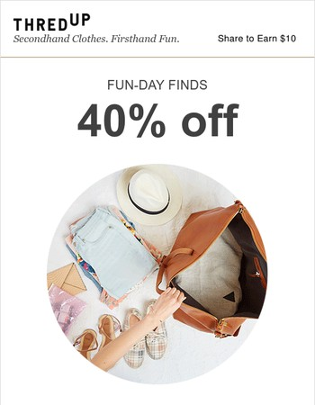 Ends today: 40% off vacay-ready styles