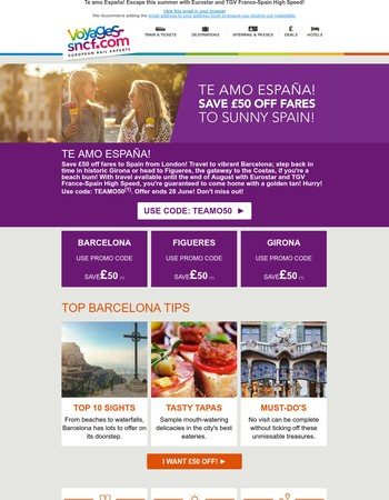 Save £50 off fares to sunny Spain from London this summer! Don't miss out!