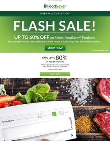 Flash Sale Starts NOW!