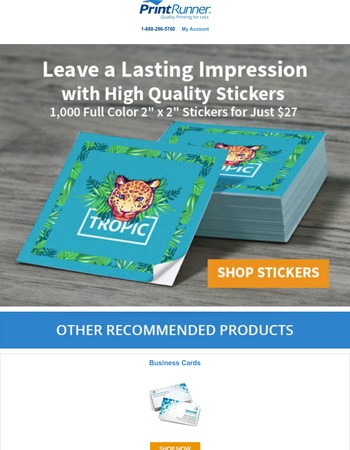 1000 Stickers for Just $27