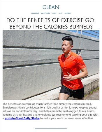 Do the Benefits of Exercise Go Beyond the Calories Burned?