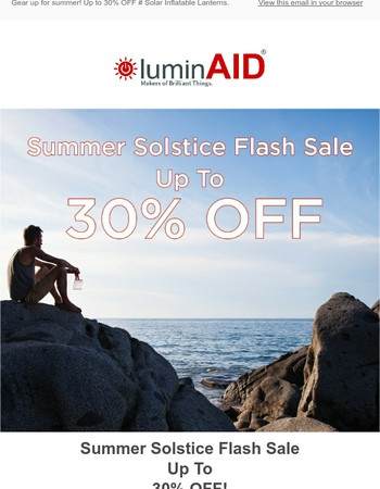 Up to 30% OFF - Summer Solstice Flash Sale!