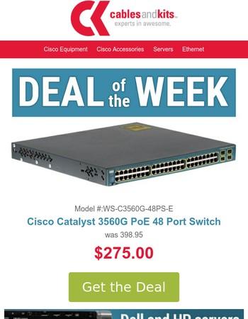$275, Cisco Catalyst 3560G PoE 48 Port Switch