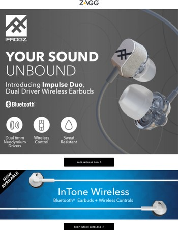 Introducing Impulse Duo Wireless Earbuds - Available Now!