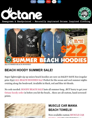 BEACH HOODY SUPER SALE!