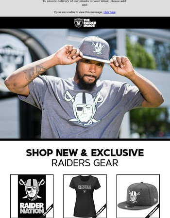 Get Your New And Exclusive Raiders Gear Today!