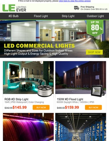 Hot Deal! Up to 80% Off LED Commercial & Ceiling Lights, Hurry Up!