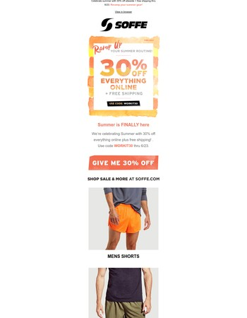 30% Off Summer Sale + Free Shipping