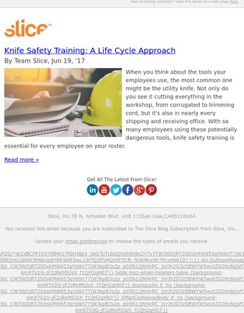 Knife Safety Training: A Life Cycle Approach