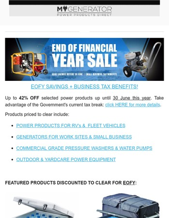 Huge EOFY Sale: Up to 42% OFF! + Free Giveaway