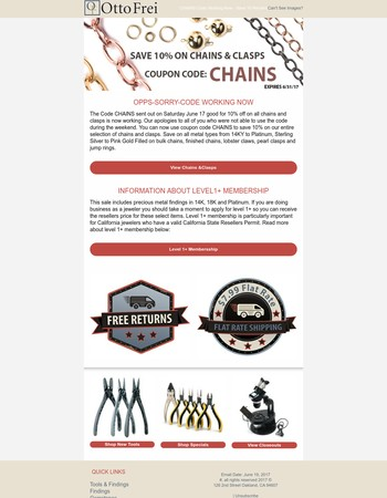CHAINS Code Working Now - Save 10 Percent