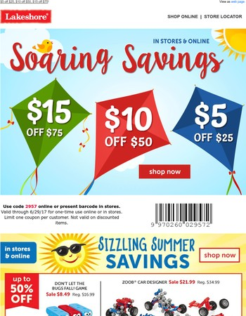Start Your Summer with Savings!
