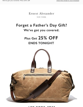 Forget a Father's Day gift?