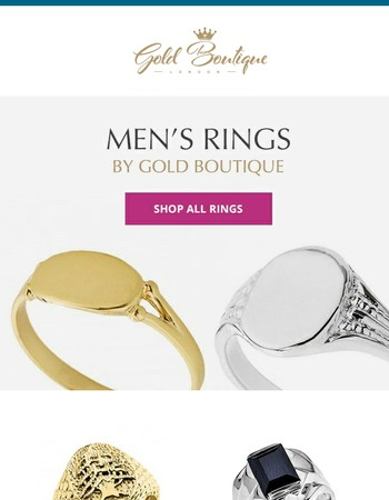 Men's Rings By Gold Boutique