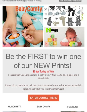 Be the First to Win a NEW PRINT from FuzziBunz & More