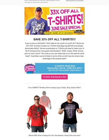 Highspots Newsletter: 33% Off All T-Shirts!!! Includes Grab Bag & Already Discounted T-Shirts!!!