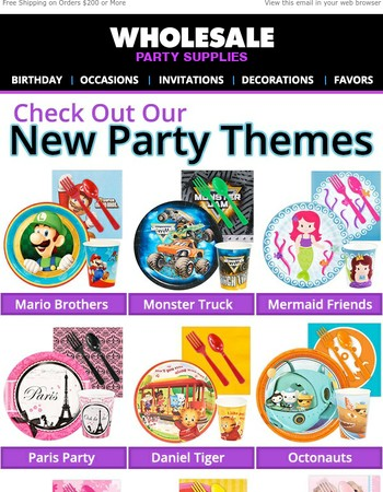 The New Party Themes Are In!