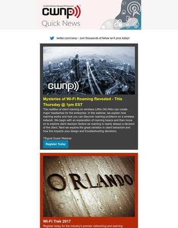 CWNP Quick News