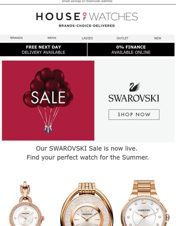 SWAROVSKI SALE - Now online