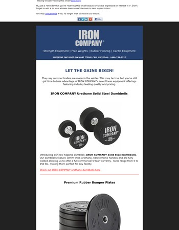 LET THE GAINS BEGIN! - IRON COMPANY