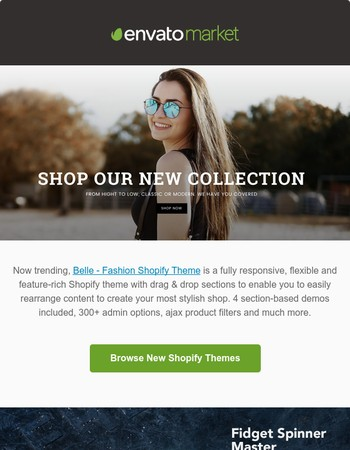 Fresh Finds: Shopify Themes, Fidget Spinner HTML + More!