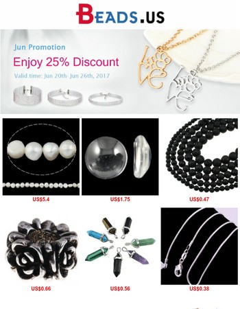 25% discount promotion