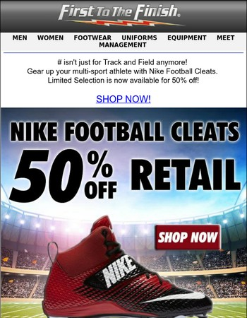 50% OFF! Nike Football Cleats